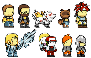 Assorted Scribblenauts Chars 1 by McGenio