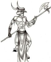 ..the Minotaur by Mystofeles