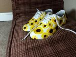 Custom Painted Sunflower Shoes by Powdered-Sugar