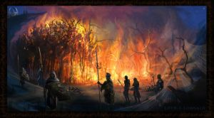 The burning of the brood by LotROLaurelin