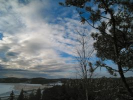 Clouds - Horizon - Trees 2 by hrimthurs-stock