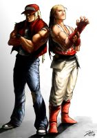 Terry and Andy Bogard _Final art by RamonFelinto