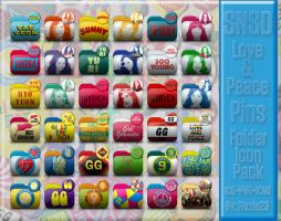 Love and Peace Pins Folder Icon Pack by Rizzie23