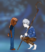 Jack Frost and Mira .:Commission:. by DalekWithAKeyblade