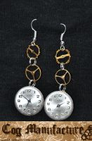 Clock earrings by Sarcastic-Coffee