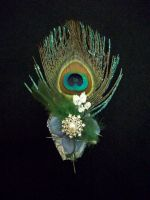 Peacock Corsage by SupernovaSword