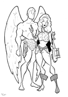 Pygar and Barbarella by BevisMusson