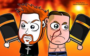 Sheamus and John Cena by kapaeme