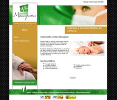 Screenshot Medical Clinic Site by lalomarquez
