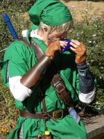 Playing the Ocarina by scoldingspirit84