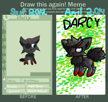 Draw This Again! Meme: DARCY by Joltimeon