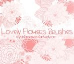 Lovely Flowers Brushes by MyShinyBoy