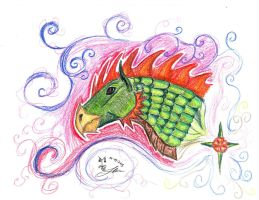 Rooster Dragon by Mortsyn