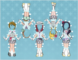 Love Live! Paper Dolls - Snow Halation 2 by EternallyOptimistic