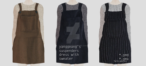 Suspenders dress with sweater Download by Mari-Ichi
