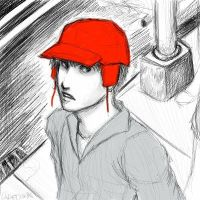 Red Hunting Hat.2 by cadet