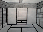 Japanese House Drawing by WolfLover887