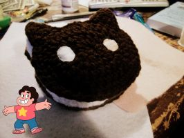 Crochet Cookie Cat by KnottyBoyCrochet