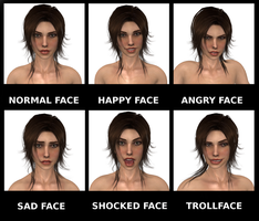 Tomb Raider 2013: many faces of Lara Croft by konradM96