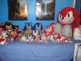 Sonic Plushie collection by sonic-fan-guy