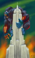 Zombie King Kong by chrismoet