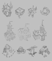 Fantasy buildings by ElizavetaS