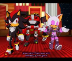 Fake 'Sonic Heroes' screenshot - Team Dark by AlishDark