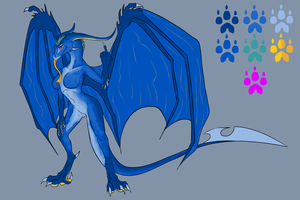 New Demetria Reference sheet by OriginalDragonLord