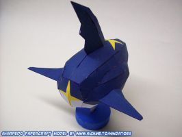 papercraft Sharpedo backside by ninjatoespapercraft