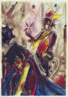 Worthy Opponent by LittleSakis-Aubade