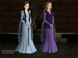 My Sister and I Game-of-Thrones-Azaleas-Dolls by InvisibleDorkette