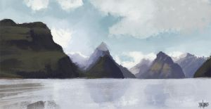 New Zealand _Virtual Plein Air by FaceGrater