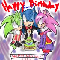 Happy birthday Sonic by AgentSkull
