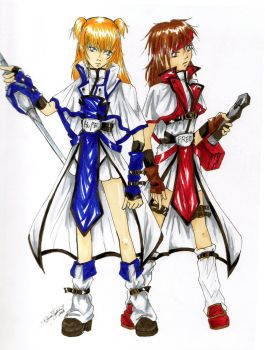 Guilty Gear - Ky Kiske and Sol Badguy by Aenaisago