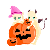 Halloween With the Twins Base by StargateNerd