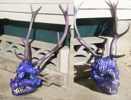 Dragon Movie Prop Mask- commissions available by Hidden-Treasury