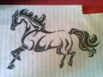 Horse Tribal TATTOO by happy197