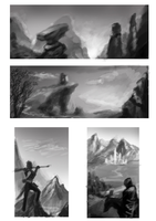 Thumbnail studies by i-KEL