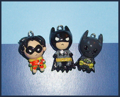 Chibi-Charms: Batman 'n Co. by MandyPandaa
