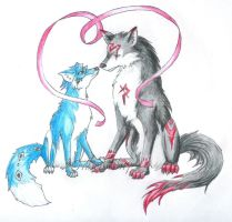 Fox and Wolf by Mnemeth17