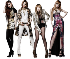 2NE1 Render O1 by AbouthRandyOrton