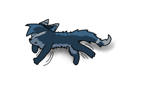 Sleeping Kitten Nyx (ART TRADE) by Xwolfstriker46