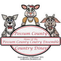 Possum County Country Diner Logo by LordDominic