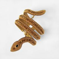 Ancient Egypt golden serpent beaded armband by nikkichou