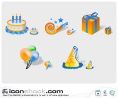 Brithday Icons by Iconshock