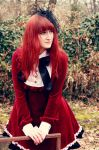 Gothic lolita in red by Ketmara