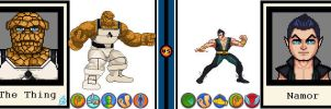 AvsX - The Thing vs Namor by GEEKINELL