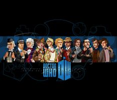 Eleven Doctors Line up by jonpinto