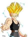 Trunks DBA ssj2 by HelvecioBNF