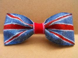 British Flag Hand Painted Bow by XiaAmane